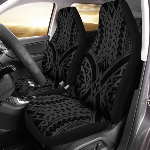 Image of Polynesian Tradition Gray Car Seat Cover - AH - J6 - Alohawaii