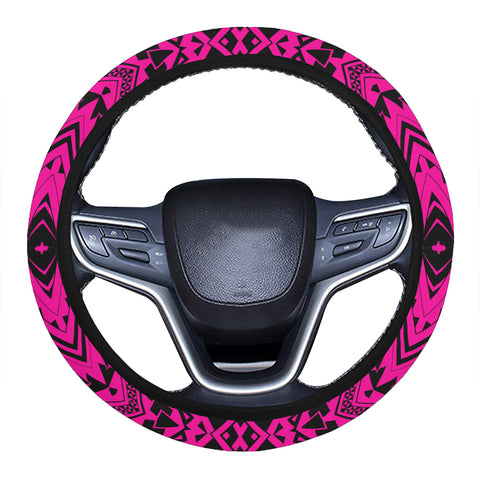 Polynesian Tradition Pink Hawaii Steering Wheel Cover with Elastic Edge - AH - J6 - Alohawaii
