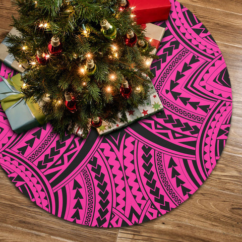 Polynesian Tradition Pink Tree Skirt