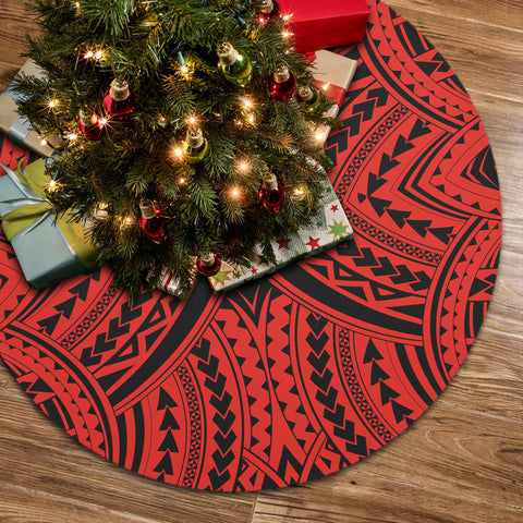 Polynesian Tradition Red Tree Skirt