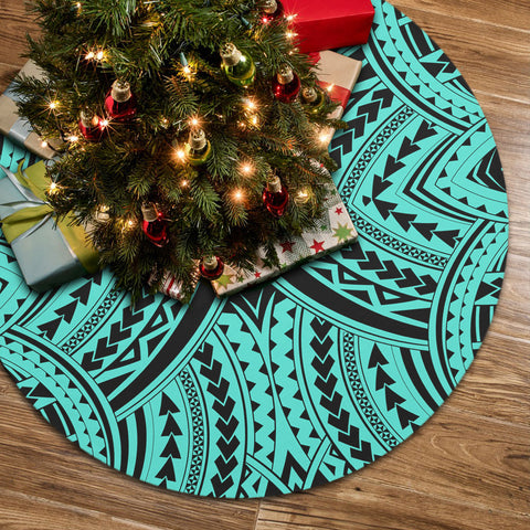 Polynesian Tradition Turquoise Tree Skirt