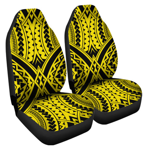 Polynesian Tradition Yellow Car Seat Cover | AH