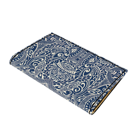 Hawaii Polynesian Culture Blue White Leather Passport Holder - AH - J6 - Alohawaii