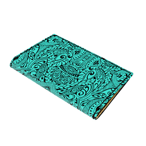 Hawaii Polynesian Culture Turquoise Leather Passport Holder - AH - J6 - Alohawaii