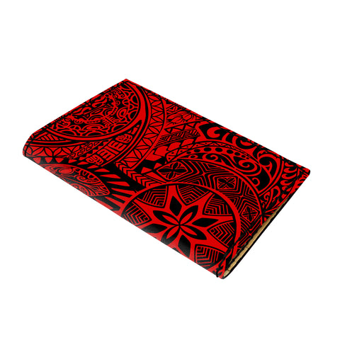 Hawaii Polynesian Hawaiian Style Tribal Tattoo Red Leather Passport Holder - AH - J6 - Alohawaii