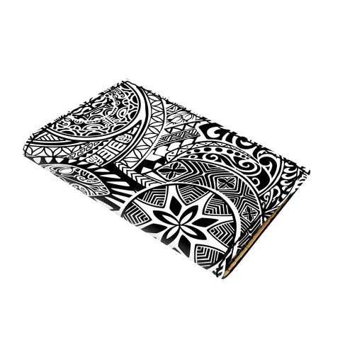 Hawaii Polynesian Hawaiian Style Tribal Tattoo White Leather Passport Holder - AH - J6 - Alohawaii
