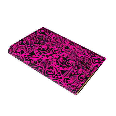 Hawaii Polynesian Kakau Turtle Pink Leather Passport Holder - AH - J6 - Alohawaii