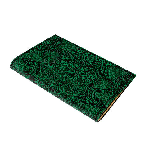 Hawaii Polynesian Lauhala Mix Green Leather Passport Holder - AH - J6 - Alohawaii