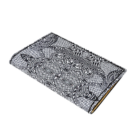 Hawaii Polynesian Lauhala Mix White Leather Passport Holder - AH - J6 - Alohawaii