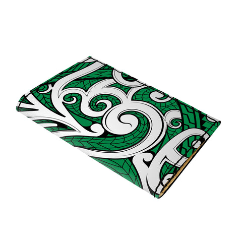 Hawaii Polynesian Maori Ethnic Ornament Green Leather Passport Holder - AH - J6 - Alohawaii
