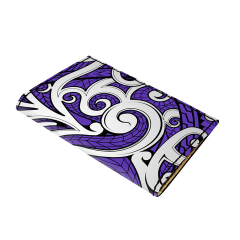 Hawaii Polynesian Maori Ethnic Ornament Violet Leather Passport Holder - AH - J6 - Alohawaii