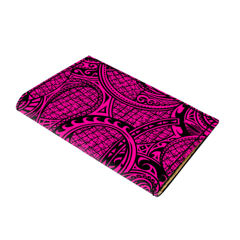 Hawaii Polynesian Maori Lauhala Pink Leather Passport Holder - AH - J6 - Alohawaii