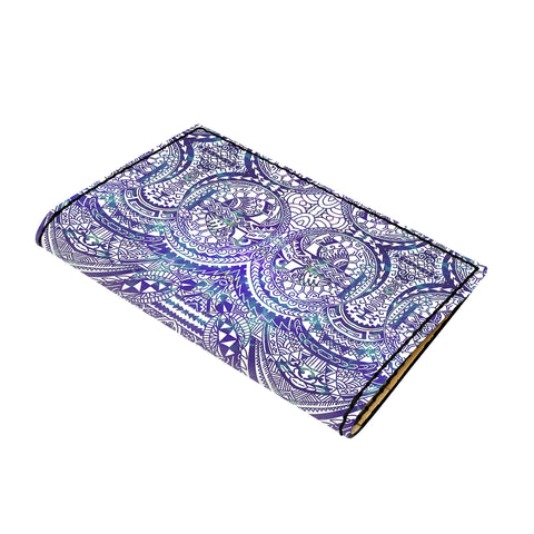 Hawaii Polynesian Symmetry Gardient Violet Leather Passport Holder - AH - J6 - Alohawaii
