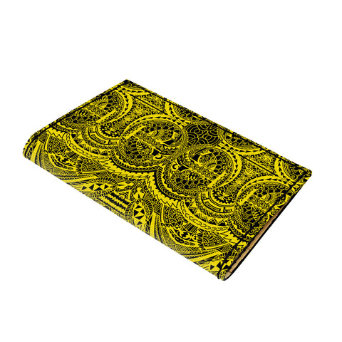 Hawaii Polynesian Symmetry Yellow Leather Passport Holder - AH - J6 - Alohawaii