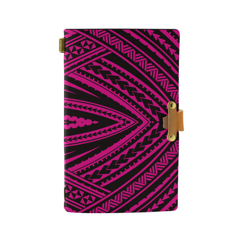 Hawaii Polynesian Tatau Pink Leather Notebook - AH - J6 - Alohawaii