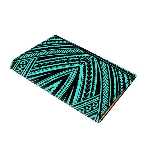 Hawaii Polynesian Tatau Turquoise Leather Passport Holder - AH - J6 - Alohawaii