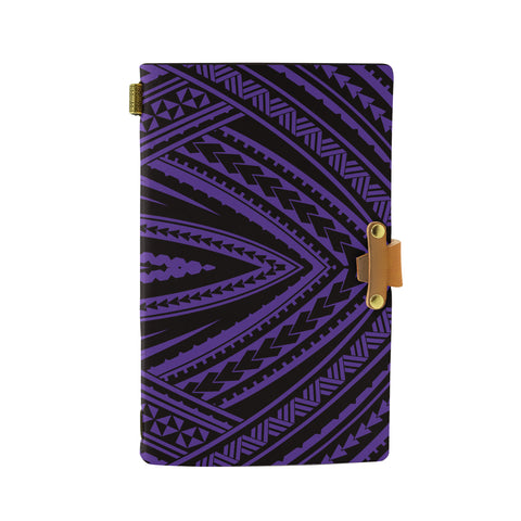 Hawaii Polynesian Tatau Violet Leather Notebook - AH - J6 - Alohawaii