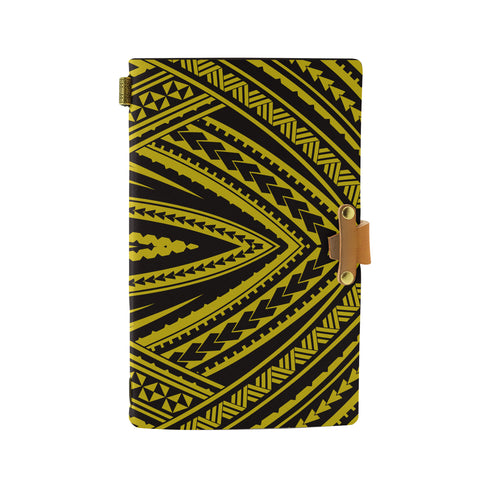 Hawaii Polynesian Tatau Yellow Leather Notebook - AH - J6 - Alohawaii
