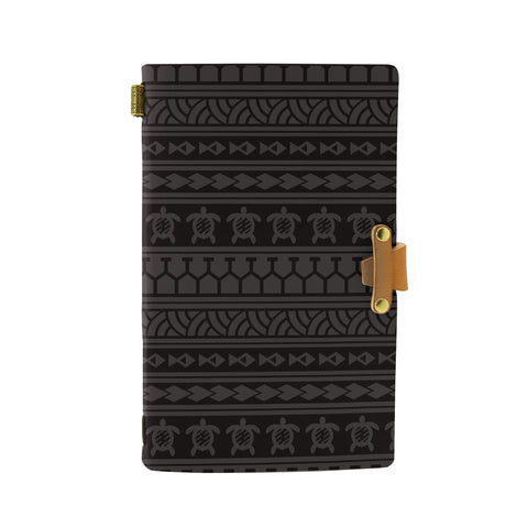 Hawaii Polynesian Tattoo Tribal Gray Leather Notebook - AH - J6 - Alohawaii