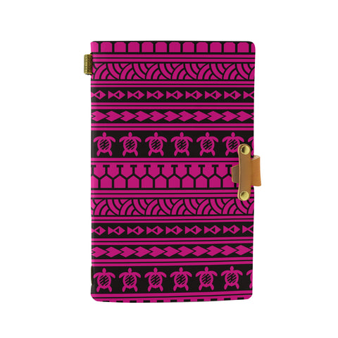 Hawaii Polynesian Tattoo Tribal Pink Leather Notebook - AH - J6 - Alohawaii