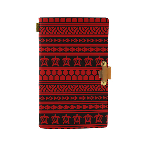 Hawaii Polynesian Tattoo Tribal Red Leather Notebook - AH - J6 - Alohawaii