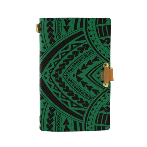 Hawaii Polynesian Tradition Green Leather Notebook - AH - J6 - Alohawaii