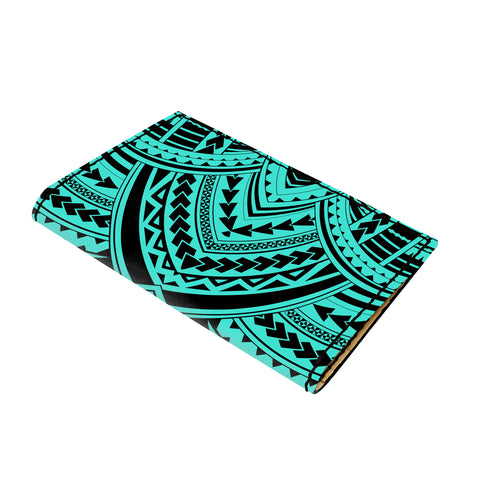 Hawaii Polynesian Tradition Turquoise Leather Passport Holder - AH - J6 - Alohawaii