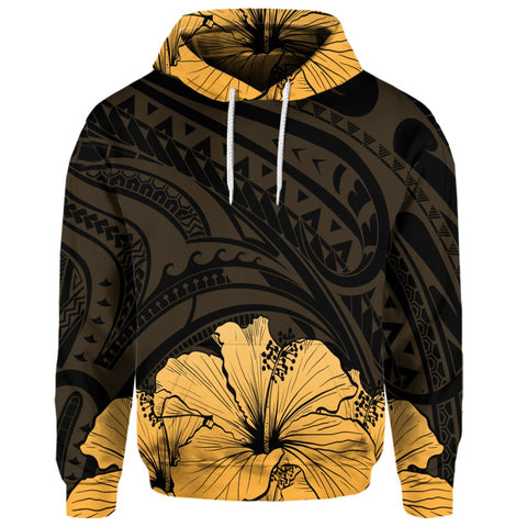 Royal Hibiscus Polynesian Tribal Golden | AH