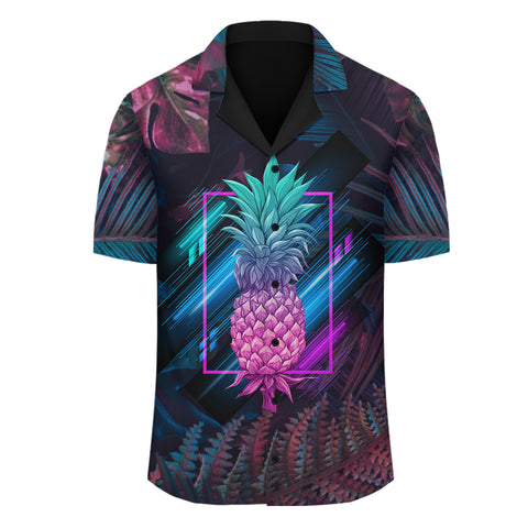 Hawaii Pineapple Kanaka Map Tropical Shirt - Pub Style - AH - JA