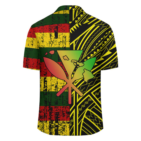 Hawaii Kanaka Flag Polynesian Hawaiian Shirt - Bright Style - AH - JA