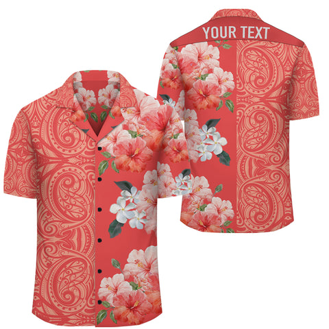 Hibiscus Flowers Polynesian - Hawaiian Shirt - Orange - Curtis Style - AH - J2 - Alohawaii