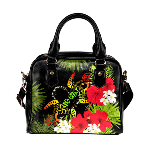 Hawaii Couple Turtle Hibiscus Tropical Valentine Shoulder Handbag - Levi Style - AH - J2