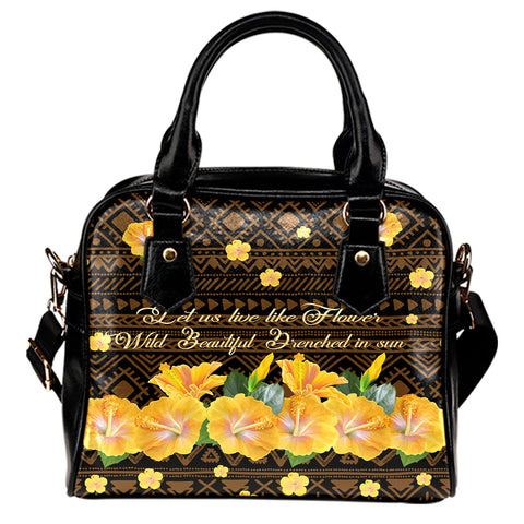 Hawaii Yellow Hibiscus Shoulder Handbag - Sunshine