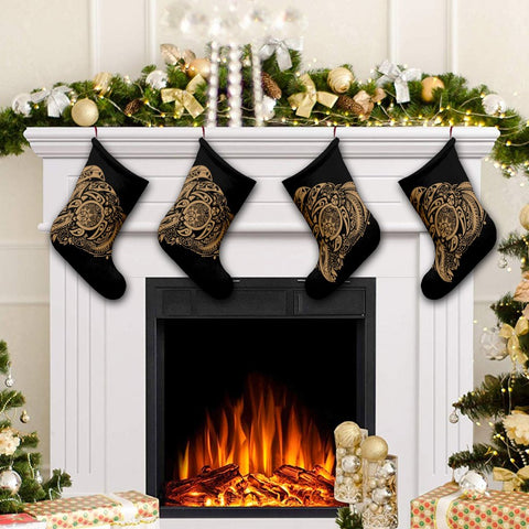 Simple Christmas Stocking Gold AH - J7R