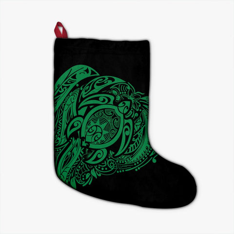 Image of Simple Christmas Stocking Green AH - J7R