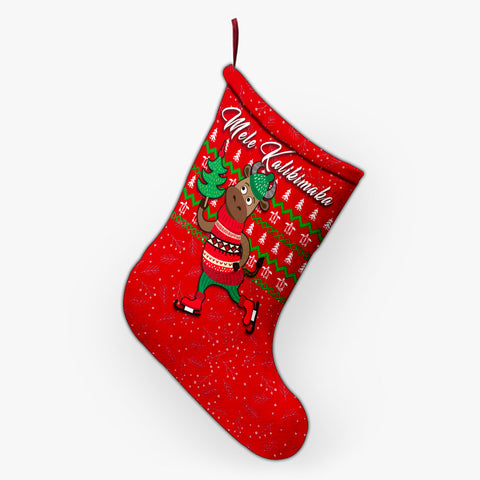 Hawaiian Turtle Christmas Stocking - Red