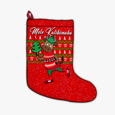 Hawaiian Turtle Christmas Stocking - Red - Felix Style - AH - J2