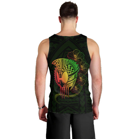 Hawaii Warrior Hibiscus Polynesian Men's Tank Top - Flo Style - AH - JA