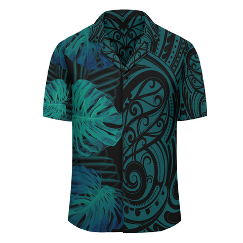 Hawaii Monsteria Leaves Polynesian - Hawaiian Shirt - Melio Style - AH - J2 - Alohawaii