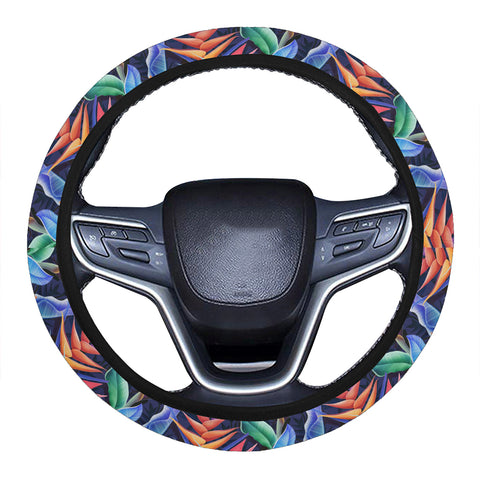 Tropical Flower Hawaii Universal Steering Wheel Cover with Elastic Edge - AH - J6 - Alohawaii