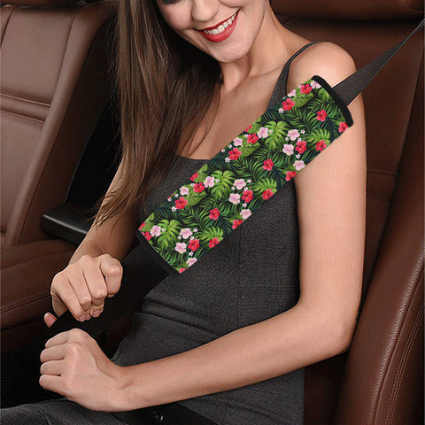 Tropical Flower Mix Hawaii Car Belt Pads - AH - J4 - Alohawaii