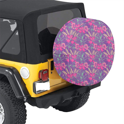 Tropical Hibiscus Purple Hawaii Spare Tire Cover - AH - J4 - Alohawaii