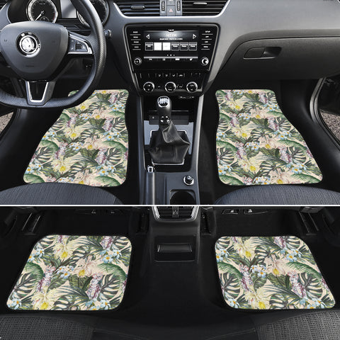 Tropical Jungle Parrots And Flamingos  Hawaii Car Floor Mats - AH - J6 - Alohawaii