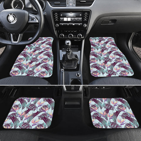 Tropical Monstera Leaf Hawaii Car Floor Mats - AH - J6 - Alohawaii