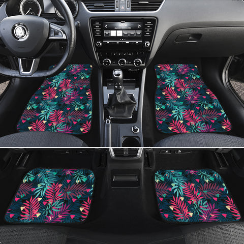 Tropical Pattern Hawaii Car Floor Mats - AH - J6 - Alohawaii