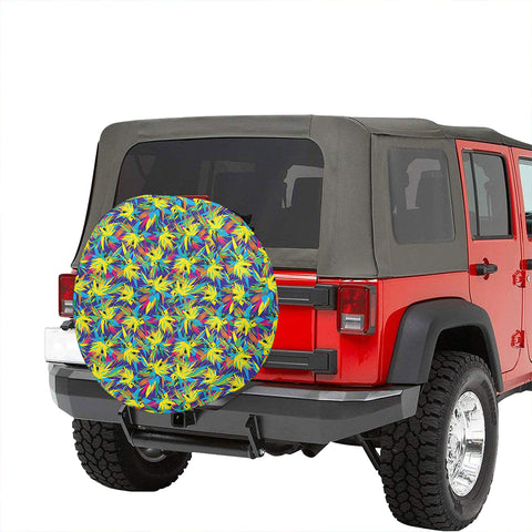 Image of Tropical Pattern Mix Hawaii Spare Tire Cover - AH - J4 - Alohawaii