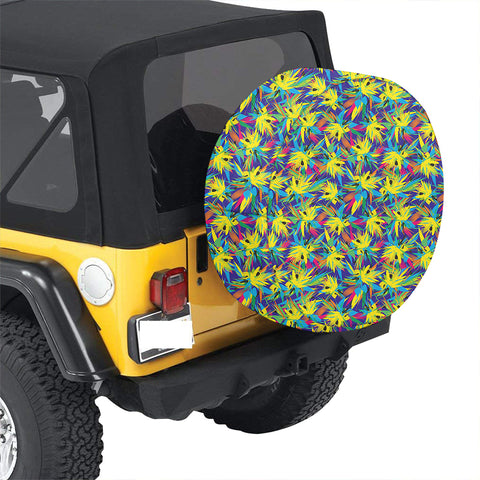 Tropical Pattern Mix Hawaii Spare Tire Cover - AH - J4 - Alohawaii
