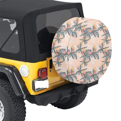 Tropical Pattern Pink Hawaii Spare Tire Cover - AH - J4 - Alohawaii