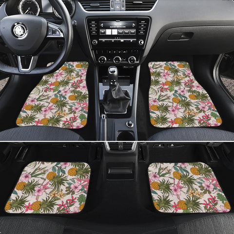 Tropical Pineaapple Hawaii Car Floor Mats - AH - J6 - Alohawaii