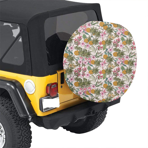 Tropical Pineaapple Hawaii Spare Tire Cover - AH - J4 - Alohawaii
